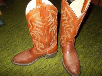 boots:   Double-H (men's 8D)
