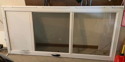 Metal glass/screen door