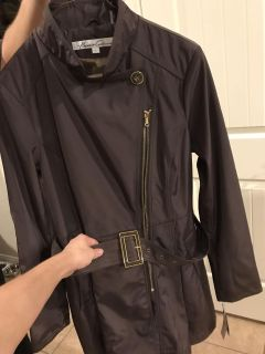 Brand new brown Kenneth Cole coat with gold accents. Tags still attached.