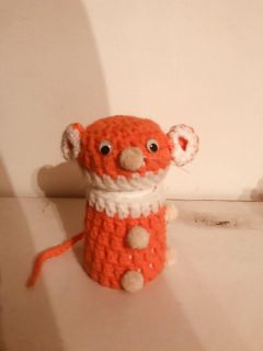 Crocheted comet mouse cover vintage