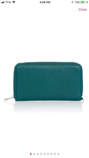 New Thirty One - All About The Benjamin s wallet. Peacock Pebble. $40 obo
