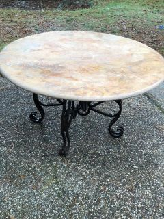 """54"""" Round Pink Marble Dining Table"""