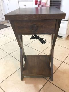 Cell phone charging side table
