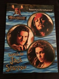 NEW Disney s Pirates of the Caribbean-Search for Jack Sparrow Coloring/Activity book