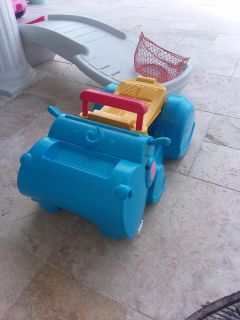 Hippo toy car and walker