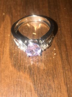 Amethyst ring size 8 sterling silver