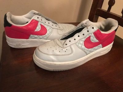 Pink and gray Air Force 1s