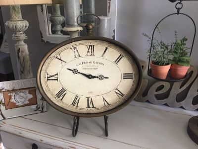 NICE CLOCK ! Works great ! Measures 16x16 . Looks great in an easel like I have it or in the wall .