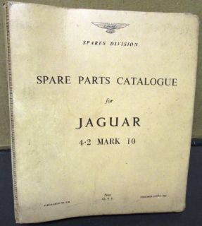 Sell Original 1965 1966 Jaguar Spare Parts Catalogue 4.2 Mark 10 X Part Numbers motorcycle in Holts Summit, Missouri, United States