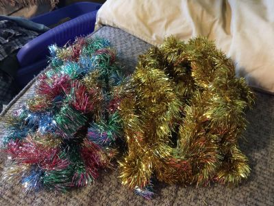 Multi colored and Gold Garland