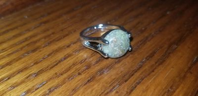 Natural Anyolite Size 7 NEW 925 Sterling Silver Coated