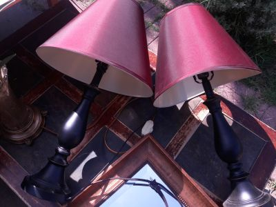 Cheap/Barato Pair of matching Lamps/Par de Lamparas