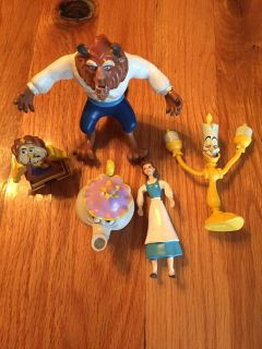 Vintage 1990s Beauty and the Beast figures