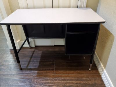 Student desk with built in storage