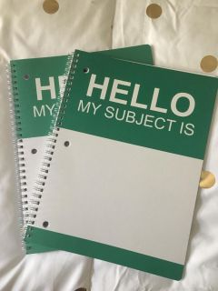 2 - 70 ct college ruled notebooks. Both for $2.