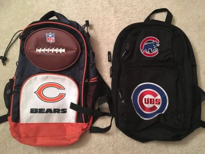 KIDS Chicago Cubs or Chicago Bears Backpacks