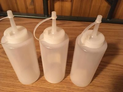 Craft or condiment bottles -New