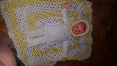 Vintage doll crocheted