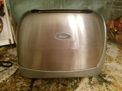 Brushed Stainless Oster Toaster