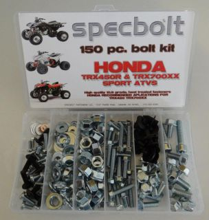Purchase 150pc HONDA Bolt Kit TRX450R TRX700 fender engine wheel lug grab bar skid plates motorcycle in Lakeside, California, US, for US $37.99