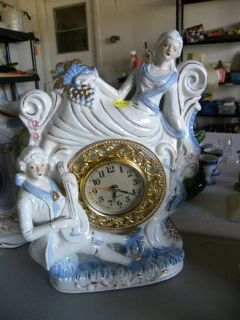 Collectible Figurine Clocks, Japanese Figurines  Porcelain Dolls