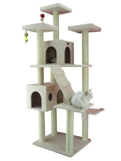 Roll over image to zoom in Armarkat Armarkat Cat Tree, Beige 2571-2573