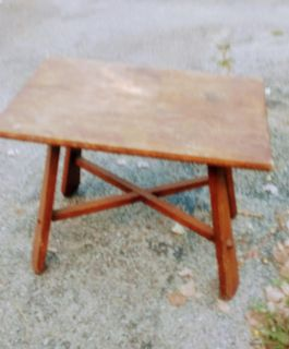 Antique side table 18inches tall,22by14 inches we,