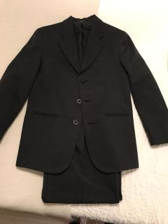 Charcoal gray boys suit size 12