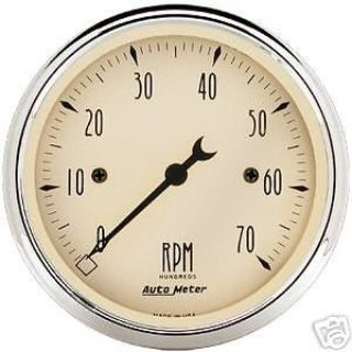 "Find Auto Meter Antique Beige Elect 3 1/8"" Tachometer #1898 motorcycle in Lake Elsinore, California, United States, for US $120.00"