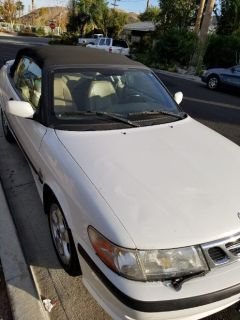 2001 Saab Covertible White
