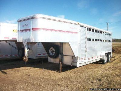 1996 Kiefer Stockcombo GN horse trailer