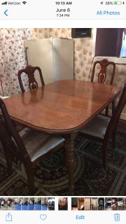 Kitchen table with 6chairs and freezer