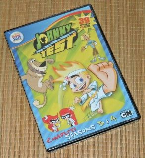 NEW Johnny Test Seasons 3 & 4 DVD 4 Disc Set 42 Episodes Cartoon Network