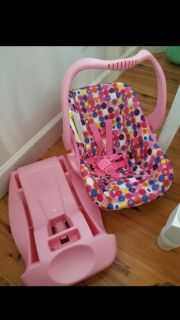 Joovy infant style doll car seat with detachable base. Barely used. $25