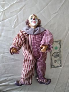 Female Clown Porcelain Doll!!