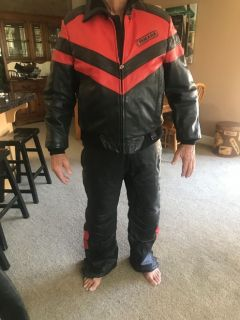 Motorcycle/snowmobile leather suit