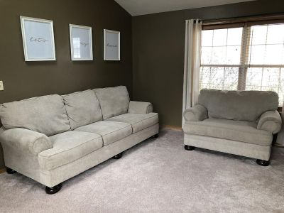 Couch and chair and a half set