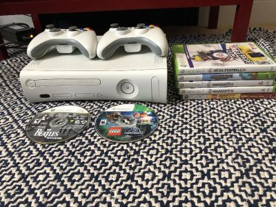 XBox 360 w/ 2 Controllers and Games