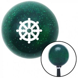 Find White Wheel of Dharma Green Metal Flake Shift Knob with 16mm x 1.5 insert motorcycle in Portland, Oregon, United States, for US $29.97