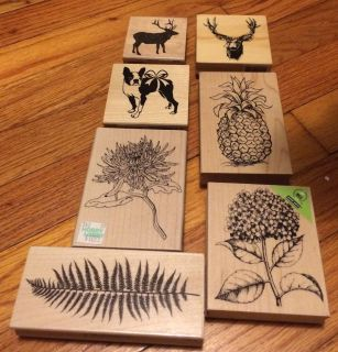 7 nature themed stamps