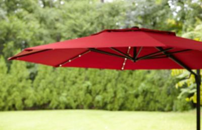 Patio Umbrella - 11 foot solar power LED lights