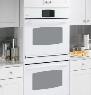 "GE Profile 30"" Double Wall Oven Both Convection, White, Never Used!"