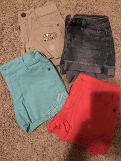 NEW, 4 or Sz 8 Girls Shorts by Justice and Epic Threads