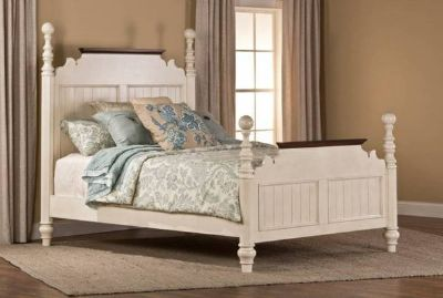Clearance Center - Hillsdale White/Cherry Queen Bed