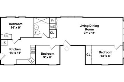 Lease Spacious 3+1. Approx 872 sf of Living Space. Will Consider!
