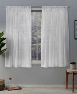 2 Belgian Textured Sheer Linen Curtains