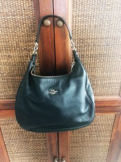 """Coach Harley Pebble Hobo 13"""" x 12 (17"""" with strap - long strap included"""