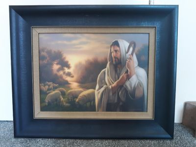 Canvas painting of Christ