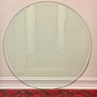 "42"" Round Clear Beveled Glass Table Top"
