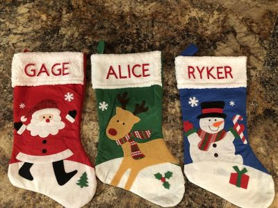 Personalized 18in stockings